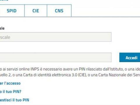 Pin INPS Bonus 600 euro